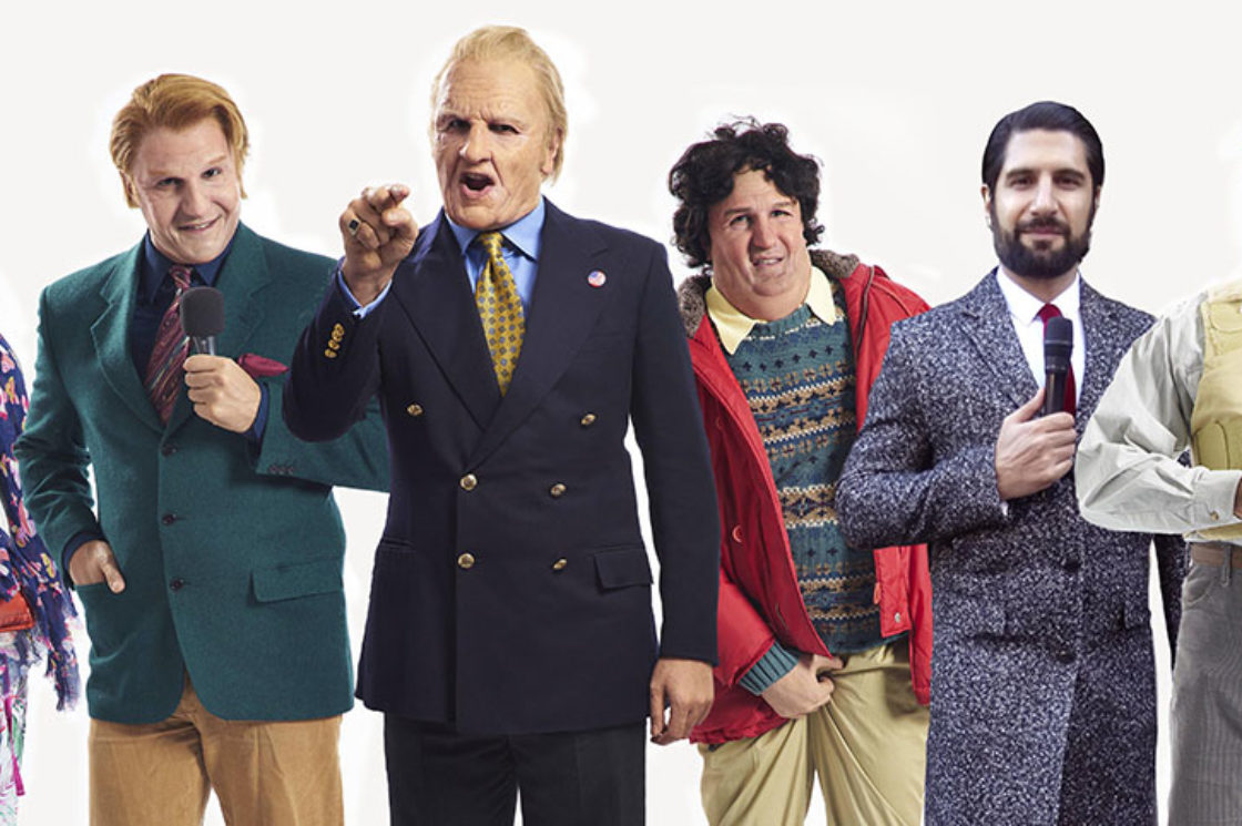 Kayvan Novak introduces the cast of his roving news show Britain Today Tonight to Radio Times